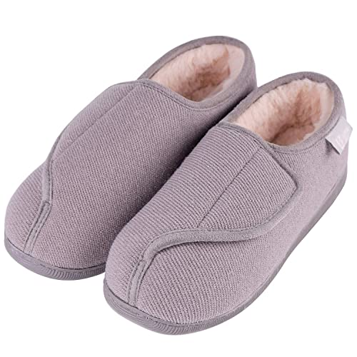 2a9a375fa087b LongBay Women's Furry Memory Foam Diabetic Slippers Comfy Cozy Arthritis  Edema House Shoes