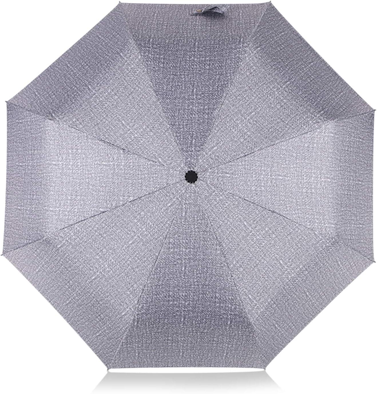 DORRISO Automatique//Manuel Pliant Parapluie Coupe-Vent Compact Portable Voyage /étanche Homme Femme Poign/ée Antid/érapante Multifonctionnel Parapluie de Voyage Bleu