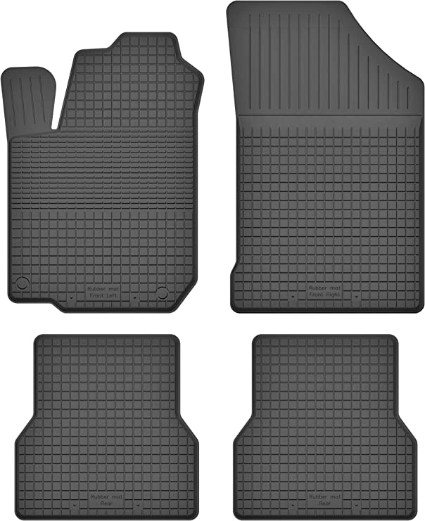 Ko Rubbermat Gummimatten Fußmatten 1 5 Cm Rand Geeignet Zur Toyota Corolla Verso I 2001 2004 Ideal Angepasst 4 Teile Ein Set Auto