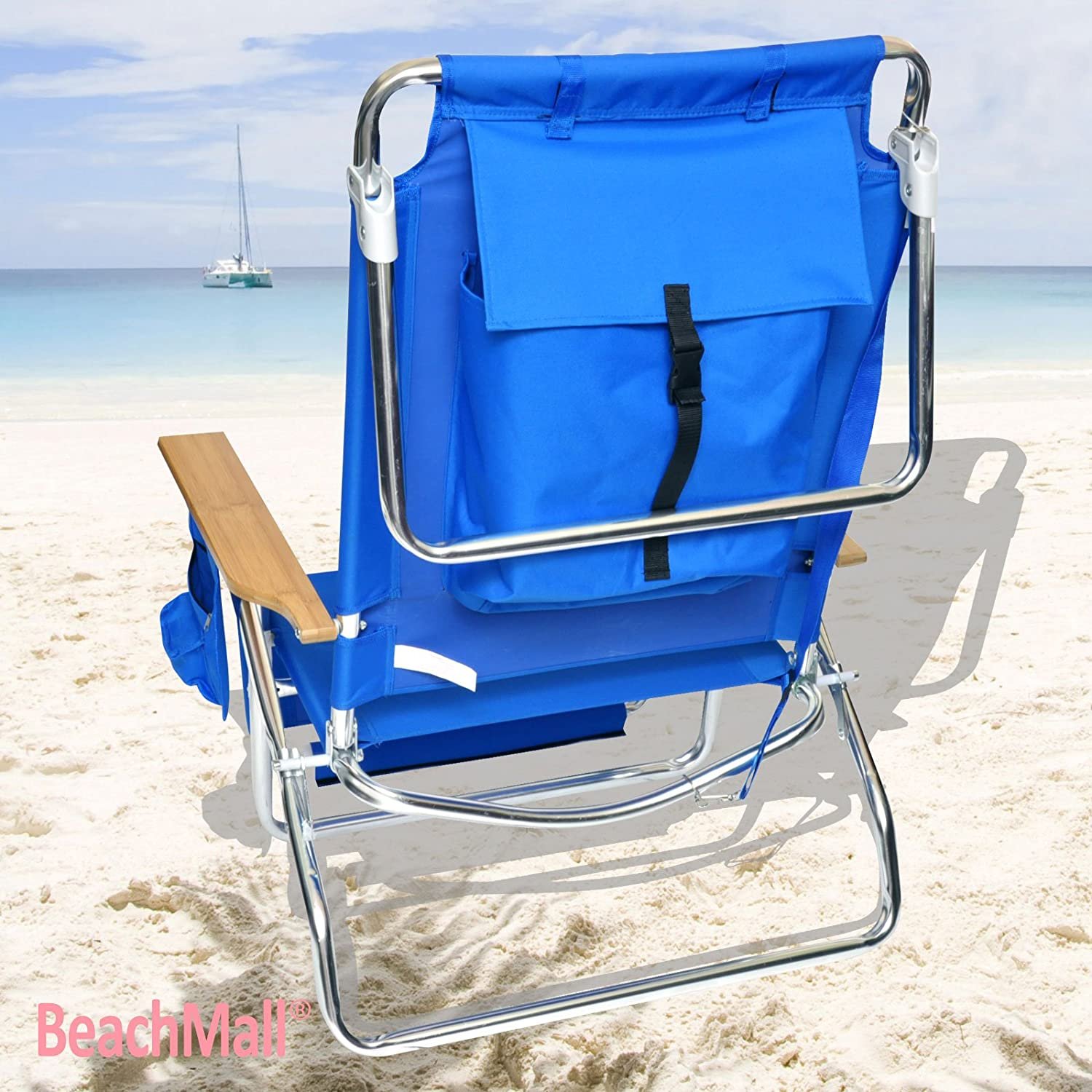 Amazon BeachMall Beach Chair with Drink Holder and Storage