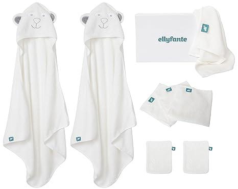 * Nuevo Lanzamiento * Set de Regalo Ellyfante para Bebés | 9 Piezas | Paños de Bambú ...