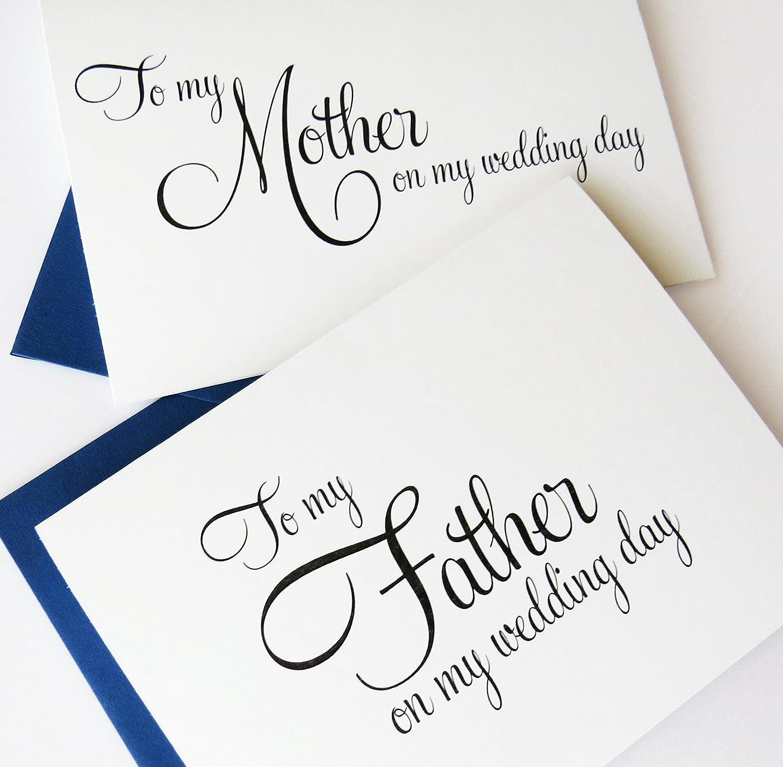 amazon com to my parents on my wedding day wedding card to my