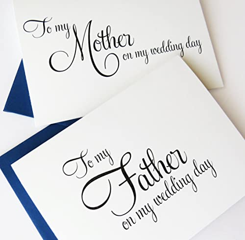 To My Parents On My Wedding Day Card Parents Card Bold Script Wedding Day Card
