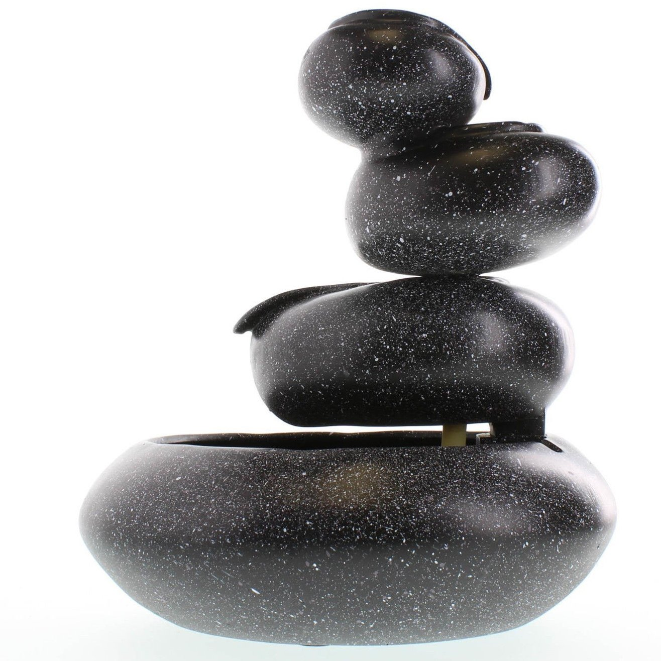 Four Tier Bowl Tabletop Water Fountain Granite Electrical Pump Included Meditation Indoor New Decor
