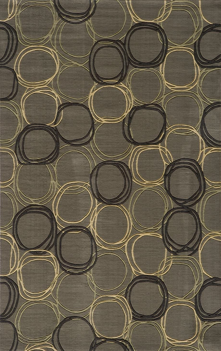 Momeni Rugs Elements Collection, 100 New Zealand Wool Hand Carved Contemporary Area Rug, 2 x 3 , Grey