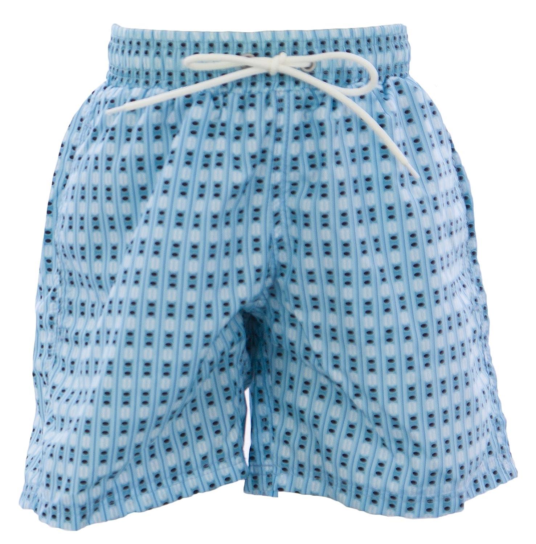 Naila Boys Printed Swim Trunks Light Blue