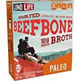 LonoLife Beef Bone Broth Powder, Grass Fed, 10g Collagen Protein, Keto & Paleo Friendly, Gluten Free, Portable Individual Pac