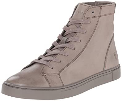 FRYE Women's Gemma High Fashion Sneaker, Charcoal Veg Tan Leather, ...