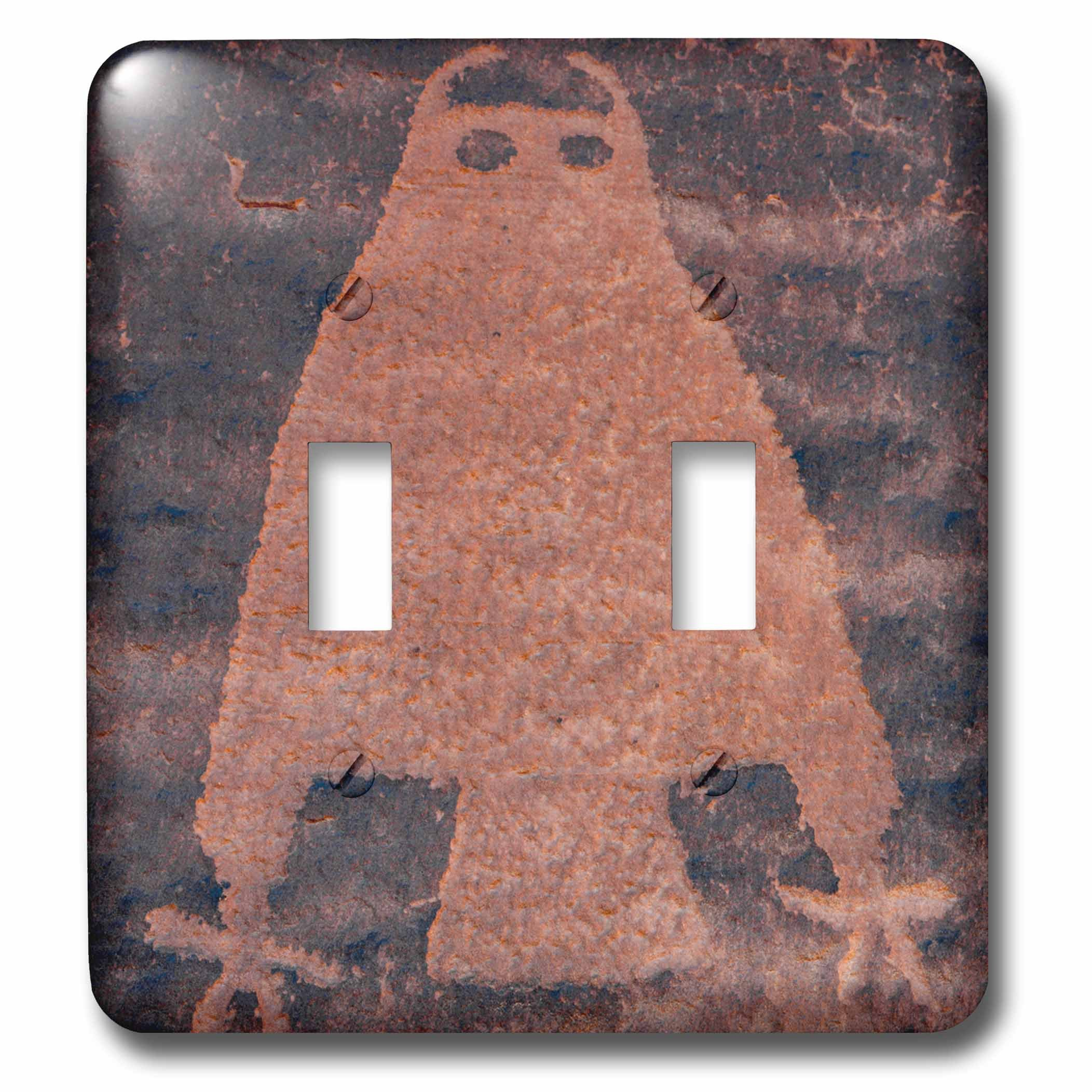 3dRose LSP_260267_2 USA, Utah, Owl Panel, Ancient Petroglyph Toggle Switch, by 3dRose