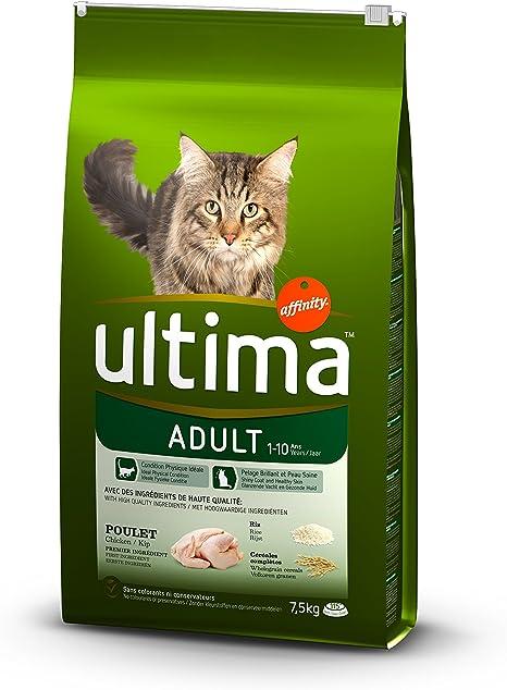 Ultima Pienso para Gatos Adultos con Pollo - 7,5 kg [paquete de 2 ...
