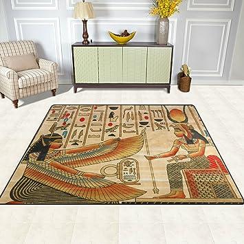 Hervorragend Doshine Bereich Teppiche Matte Teppich 4 U0027X5u0027, Alten Ägypten Ägyptische  Polyester Rutschfest Wohnzimmer