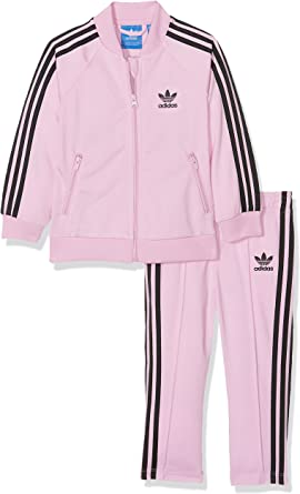 miembro trabajo compensar  adidas Tracksuit – Infant Superstar pink/black size: 98 cm tall - 2 to 3  years: Amazon.co.uk: Clothing