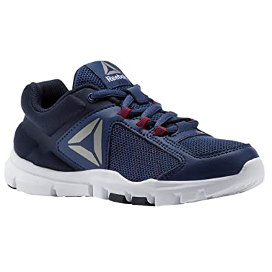 Reebok Jungen Yourflex Train 9.0 Fitnessschuhe, Blau (Washed Blue/Night Navy/Primal Red/Pewter 000), 32.5 EU