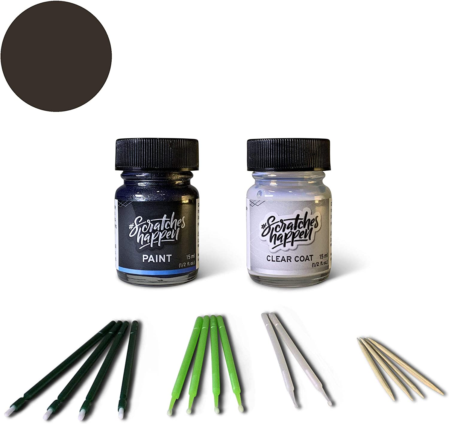 ScratchesHappen Exact-Match Touch Up Paint Kit Compatible with Alfa Romeo Vesuvio Gray (035/B/PG1) - Essential