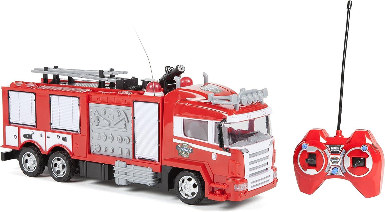 World Tech Toys–Camión de Bomberos–teledirigido Up Lights y Shoots Water, 34980