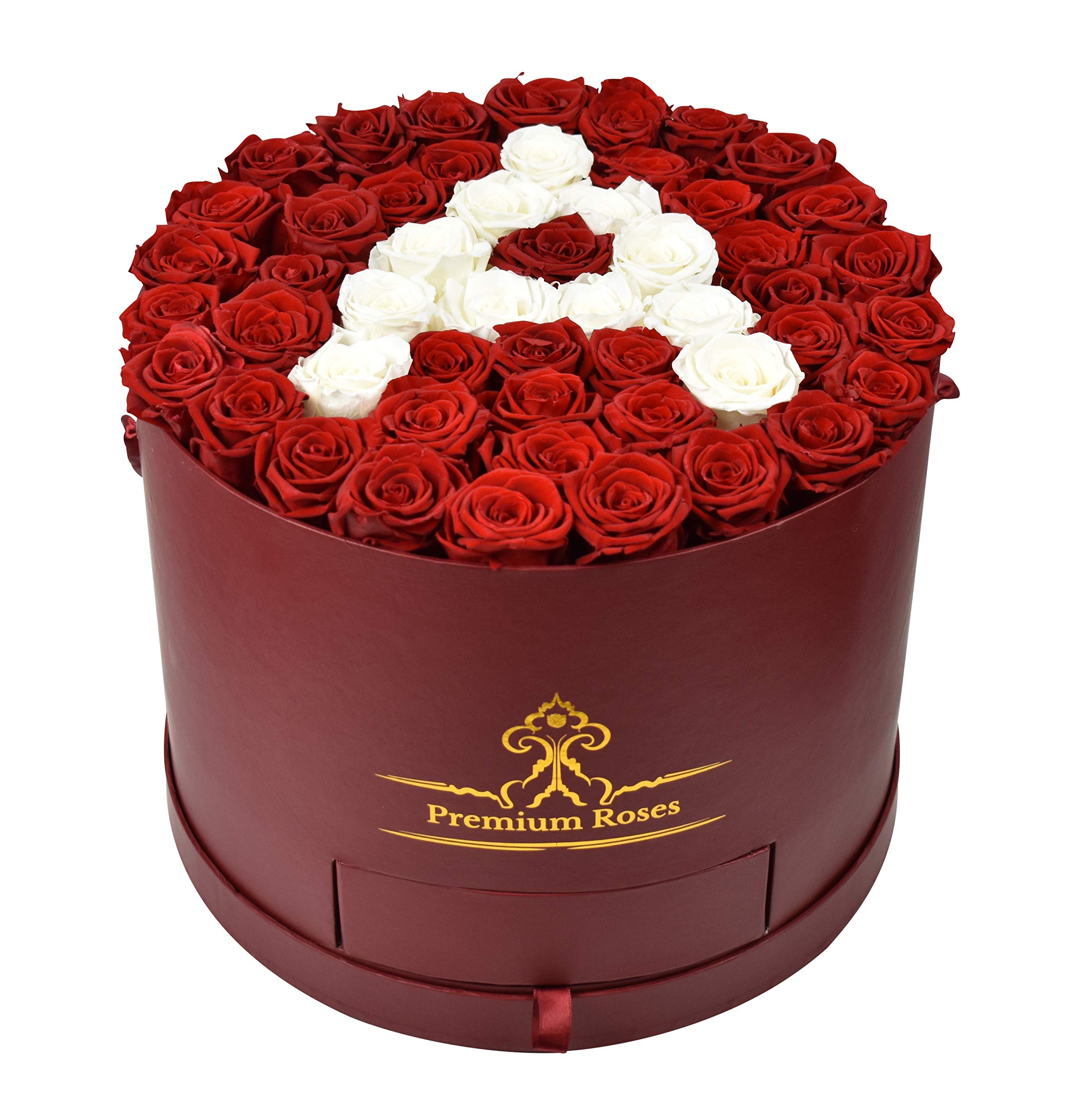 Premium Roses| Real Roses That Last a Year | Fresh Flowers| Roses in a Box (Custom Box, Large) by Premium Roses