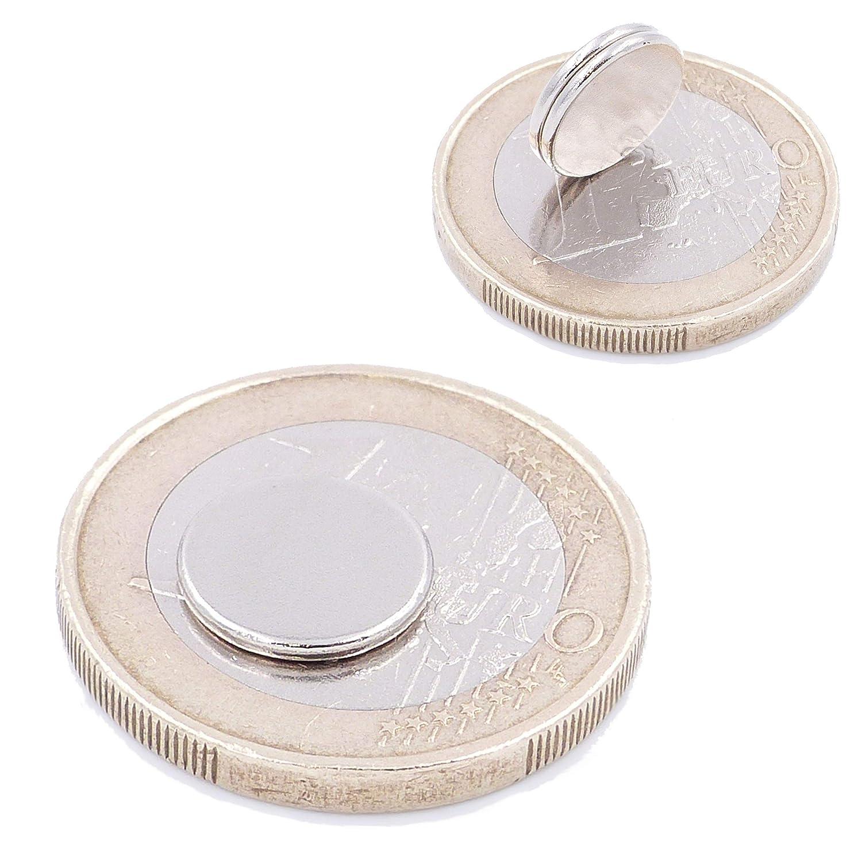 magneti in neodimio Ultra potenti Piccoli 50 Mini Magneti Dischi da 10x1mm magneti per modellismo Brudazon Foto lavagne magnetiche Rotondi ed Extra potenti Grado Magnetico N52