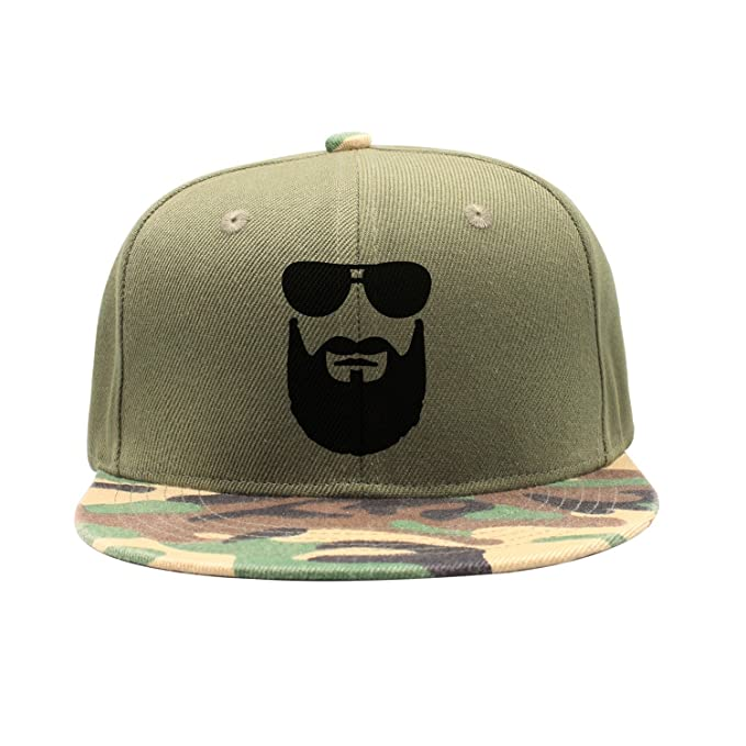 a263a622442 Liujiaxie Cool Beard Sunglasses Man Camouflage Cap Snapback Hats at Amazon  Men s Clothing store