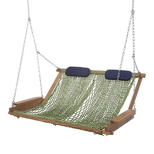 Nags Head Hammocks Cumaru Deluxe Rope Porch Swing