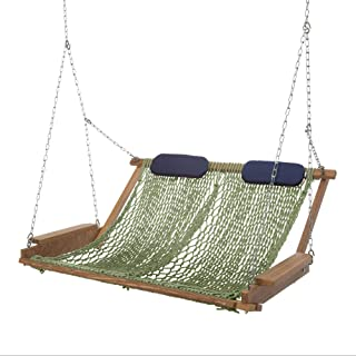 product image for Nags Head Hammocks Cumaru Deluxe Rope Porch Swing, Meadow DuraCord
