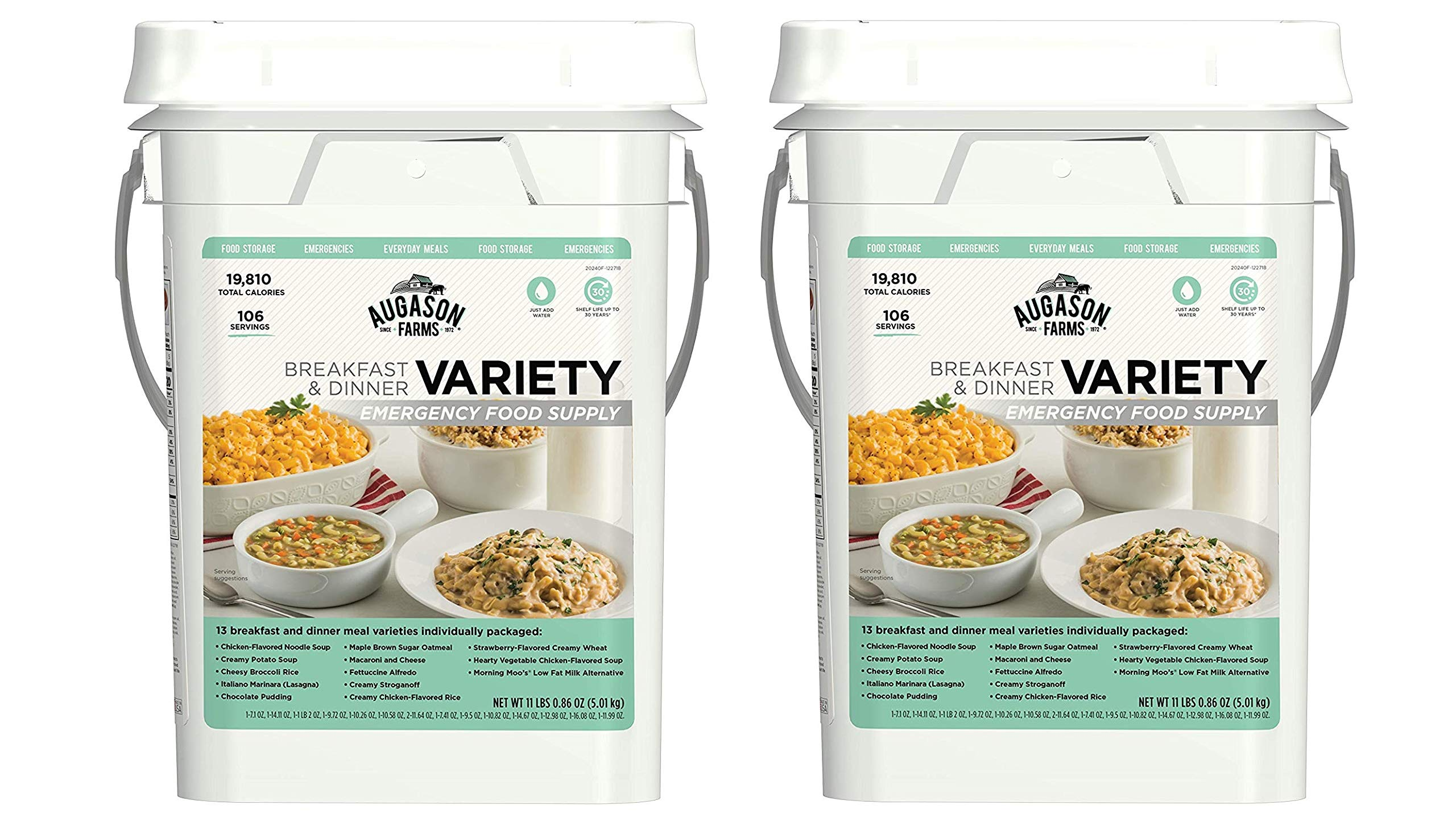 Augason Farms Breakfast and Dinner Variety Pail Emergency Food Supply Everyday Meals 4 Gallon Pail by Augason Farms