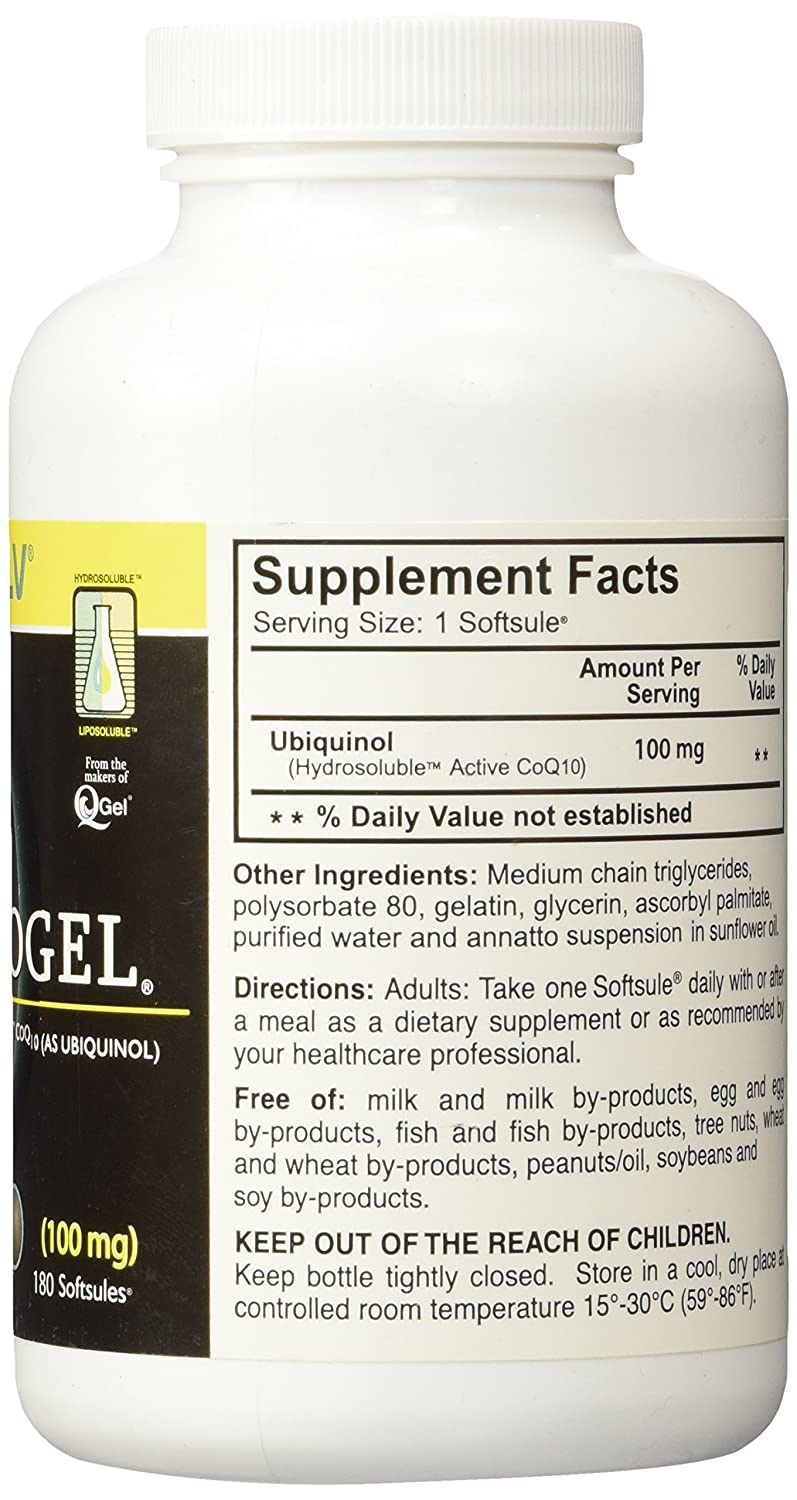 Amazon.com: 100 mg quinogel solubilized Ubiquinol (Ultra ...