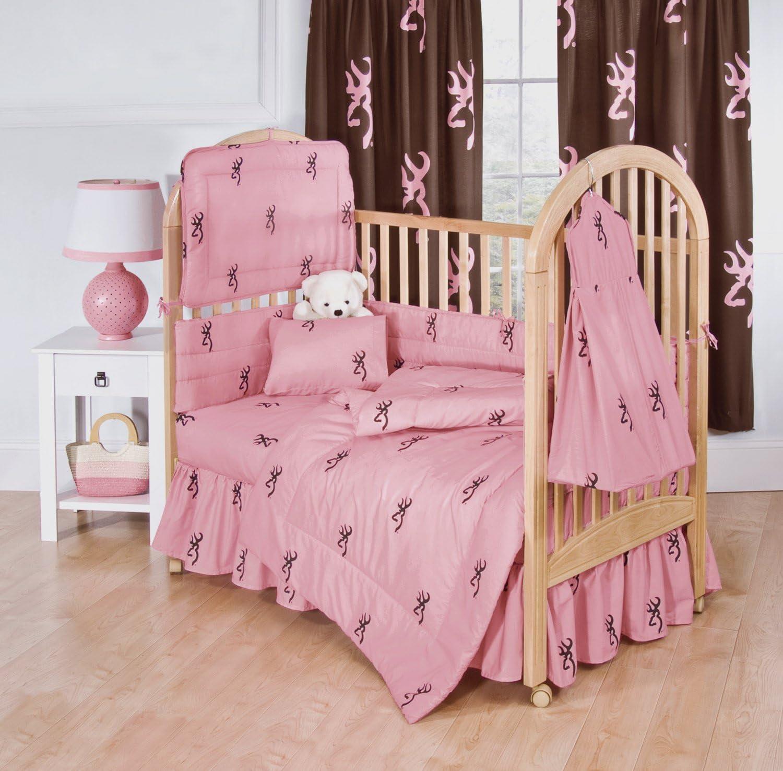 Pink Camo Crib Sheet REALTREE Nursery Baby Girl Bedding 3 Piece Set Quilt New