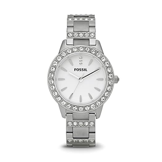 3fa54aa9fd2f3 Buy Fossil Jesse Analog White Dial Women s Watch - ES2362 Online at Low  Prices in India - Amazon.in