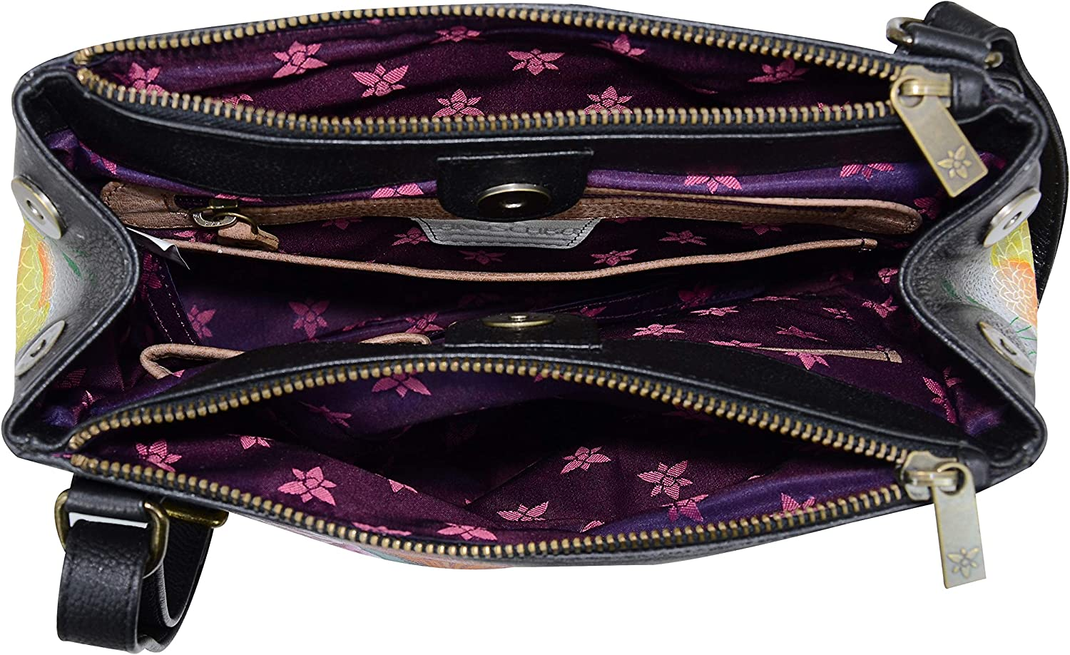 Anuschka Handpainted Leather Triple Compartment Convertible Tote
