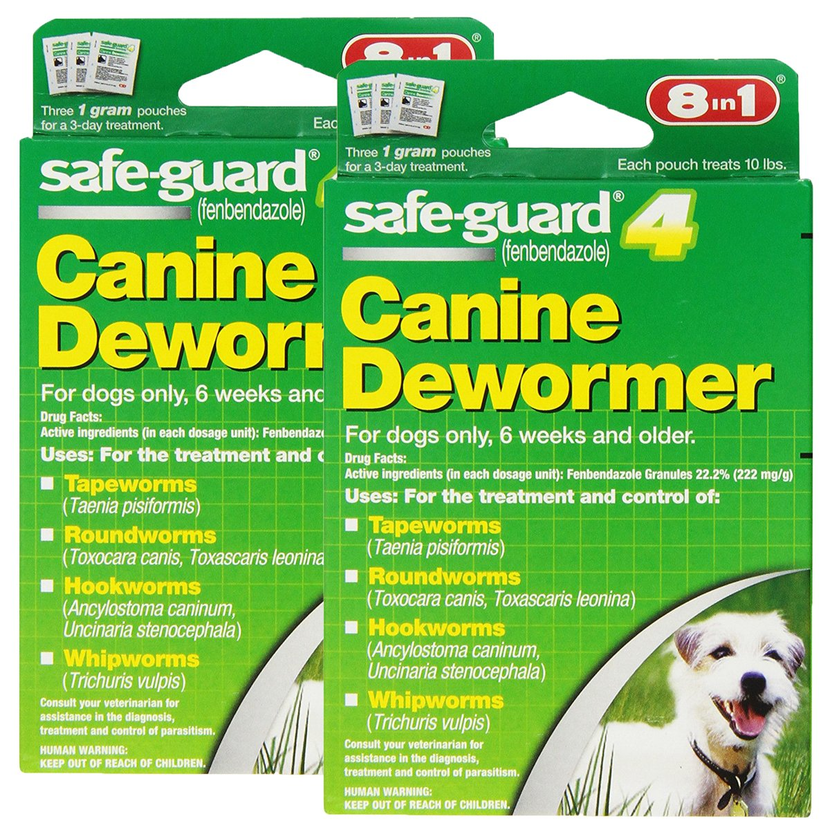 8 In 1 Safe Guard Canine DeWormer for S Dogs, 1-Gram by Excel