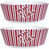 "Popcorn Serving Bowl Large 10"" X 4.75""- Set of 2 Tubs"