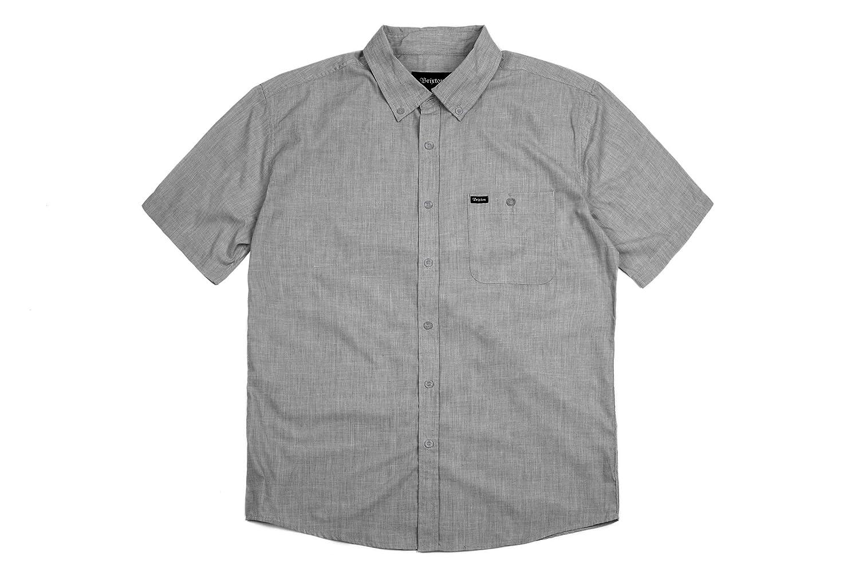 038eea25a4 Amazon.com  Brixton Men s Central Short-Sleeve Woven Shirt  Clothing