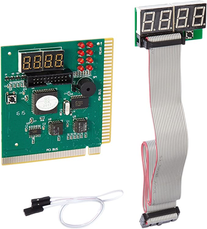 Optimal Shop New 4 Digit PCI & ISA PC Computer Motherboard Analyzer Tester Diagnostic Debug POST Card w/ External Display Motherboards at amazon