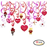 valentines day decorationskonsait valentine hanging swirl decorations for home party dangling ceiling window wall - Valentine Party Decorations