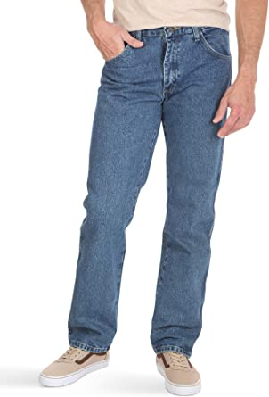Wrangler Texas Stretch Regular Fit Jeans New Men's Classic Dark Blue Black Denim
