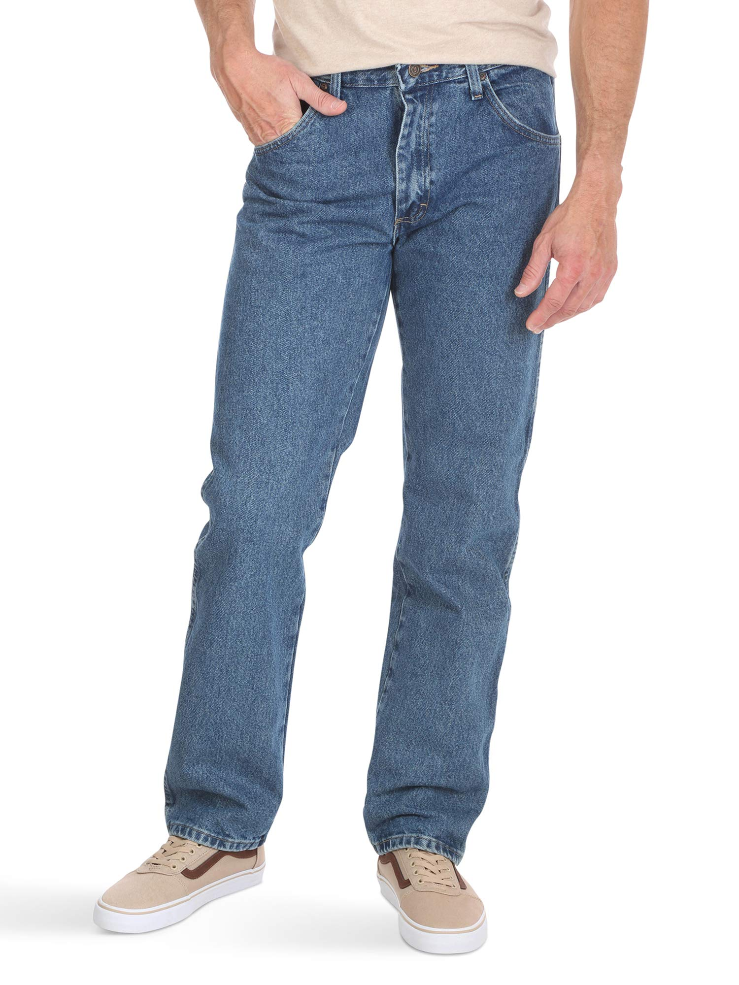 e576042d Galleon - Wrangler Authentics Men's Big And Tall Classic Regular Fit Jean,  Stonewash Dark, 56x32