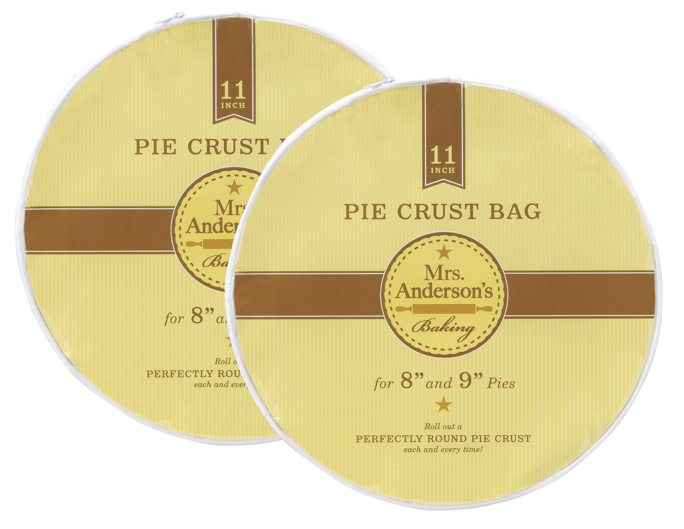 Mrs. Anderson's Baking Easy No-Mess Pie Crust Maker Bag, Set of 2, 11-Inches
