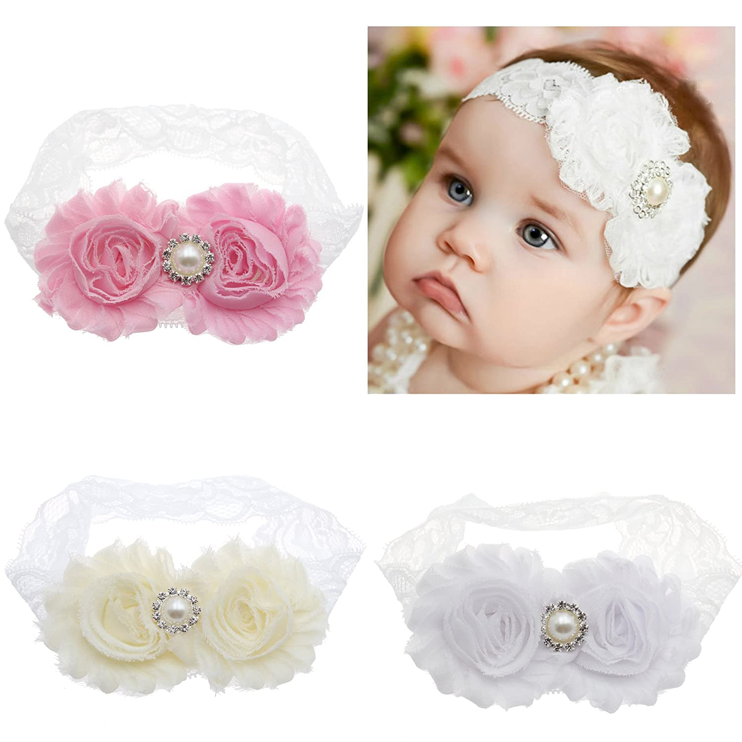2707d8a1ec7 Lebo baby baptism headbands baby girl lace headbands with bows clothing jpg  1500x1500 Baby girl lace
