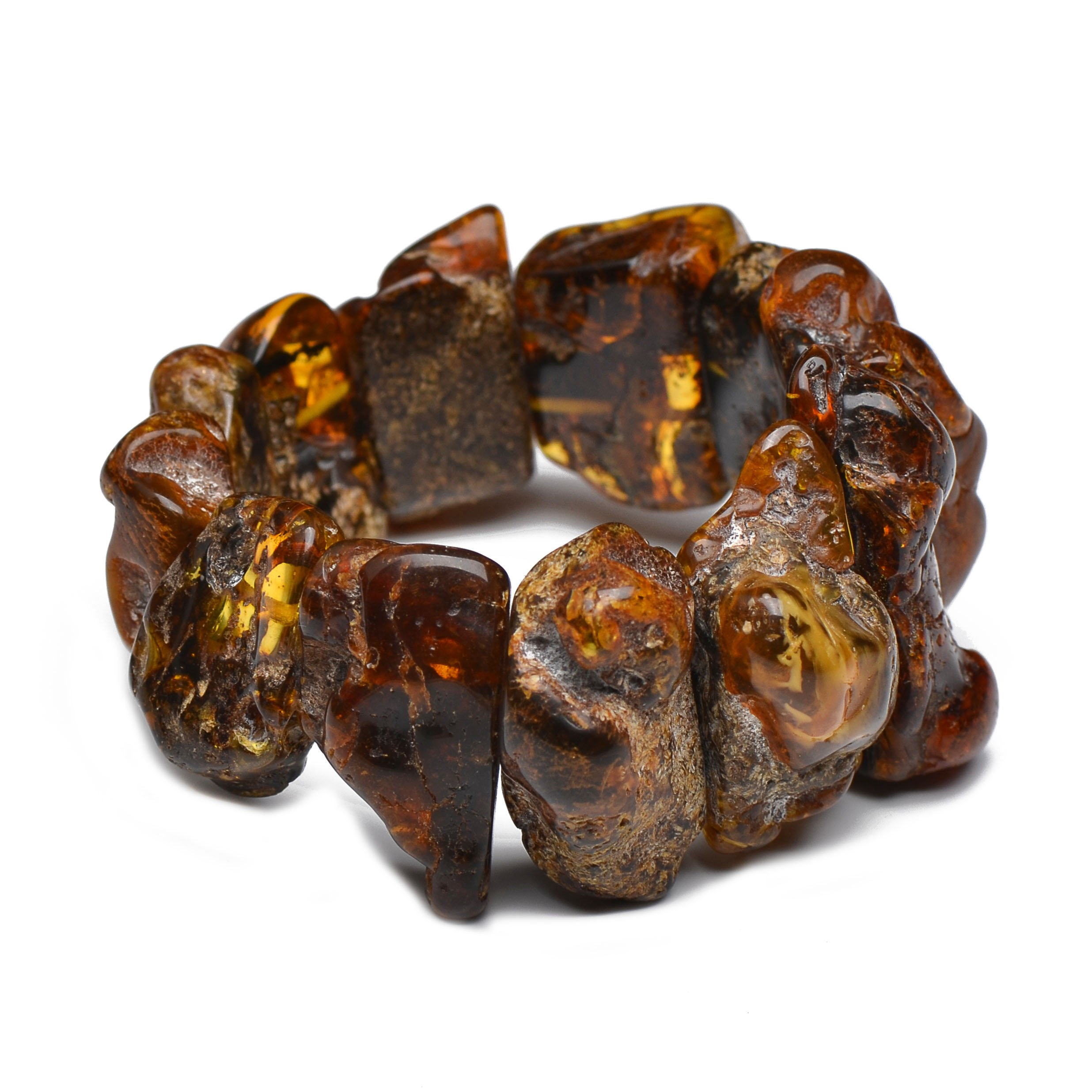 Massive and Exclusive Amber Bracelet - Certified Vintage Amber Bracelet - Unique Amber Pieces - One Item Only by Genuine Amber (Image #3)