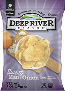 product image for Deep River Snacks Sweet Maui Onion Kettle Cooked Potato Chips, 1-Ounce (Pack of 80)