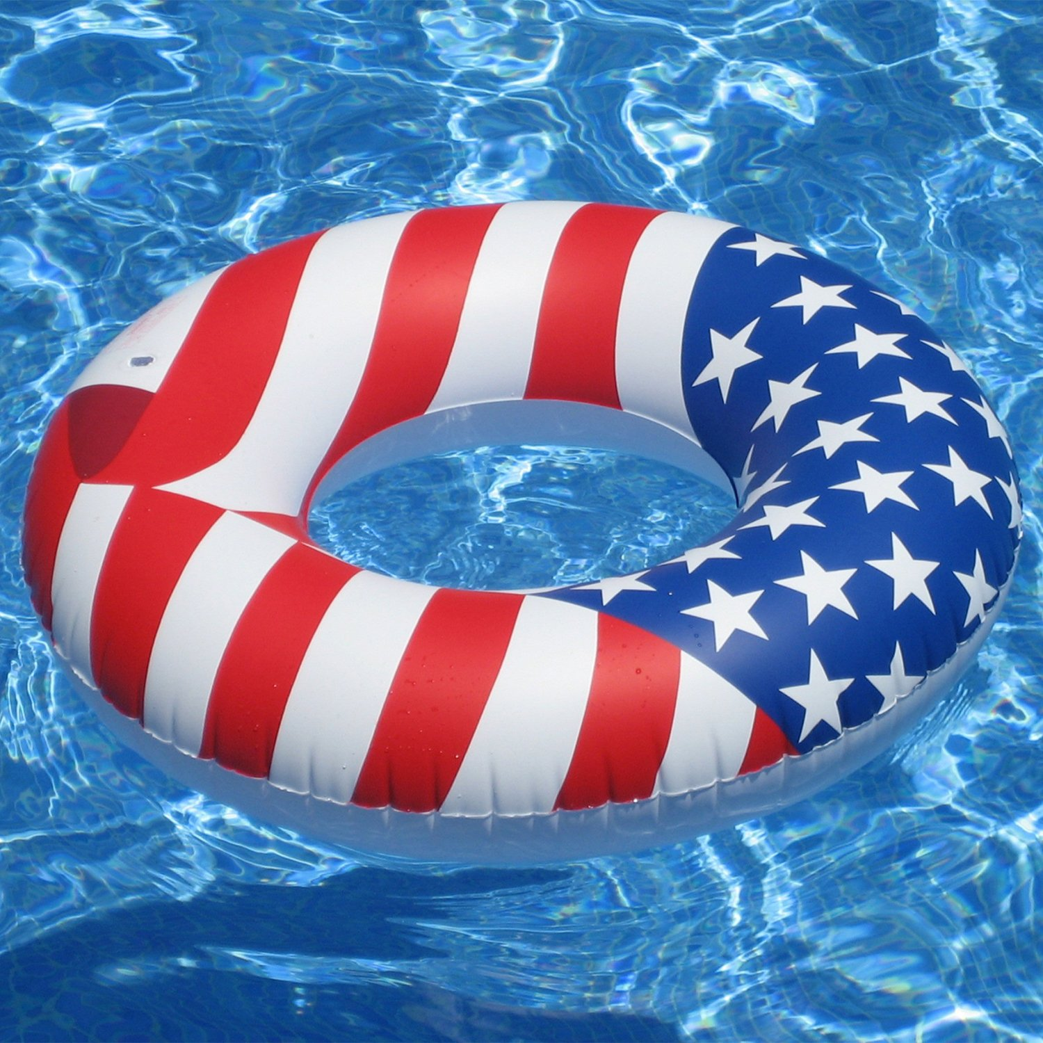 "Amazon Swimline 36"" Inflatable American Flag Swimming Pool"