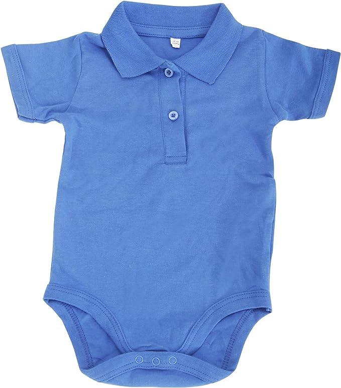 Babybugz- Polo body orgánico para bebé (3-6 meses/Azul cobalto ...