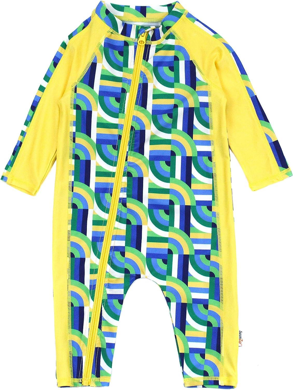 Multiple Colors Boys Long Sleeve Sunsuit SwimZip UPF 50