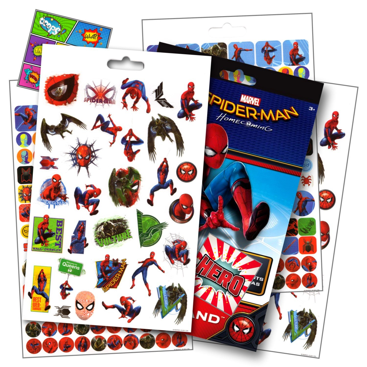 Spiderman Homecoming Movie Stickers Over 295 Spiderman Stickers Bundled with Specialty Superhero Reward Stickers