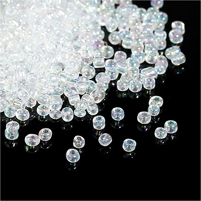 - Sold by 22 Gram Tubes 8-9257 Size 80 Glossy AB Finish Transparent Topaz Genuine Miyuki Glass Seed Beads Approx. 900 Beads per Tube