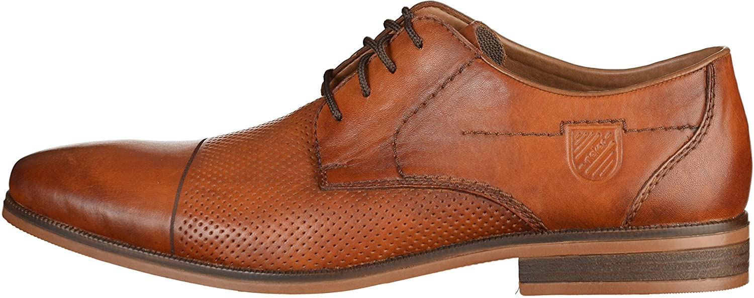 Mens 10613 Derbys, Amaretto/Navy, 6.5 UK Rieker