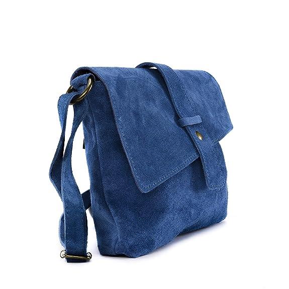 b657dbb2c3 OH MY BAG Sac à main en cuir Nubuck/daim Burano bleu: Amazon.fr: Chaussures  et Sacs