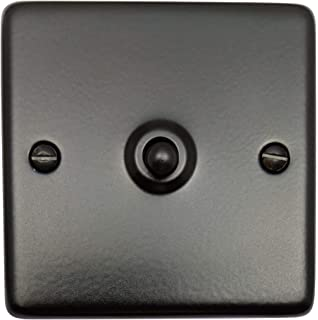 2 Gang Toggle Light Home Switch Black Nickel Polished 2 Way 10 Amp Crabtree