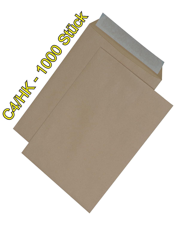 1000 stück Versandtaschen DIN C4 HK ohne ohne ohne Fenster, Umschläge Briefumschläge braun (C4 HK ohne Fenster - braun) B0748H7LYB | Bequeme Berührung  | Starke Hitze- und Hitzebeständigkeit  | Attraktive Mode  0195b4