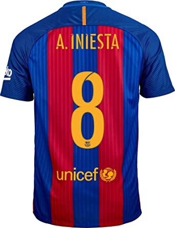 new product d0344 30500 Amazon.com: Nike A. Iniesta #8 FC Barcelona Home Soccer ...